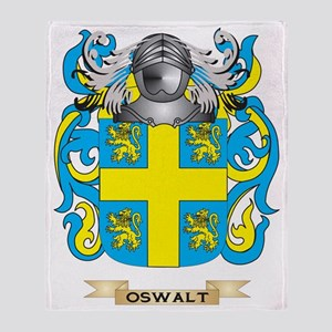 Oswalt Coat of Arms (Family Crest) Throw Blanket