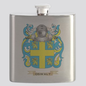 Oswalt Coat of Arms (Family Crest) Flask