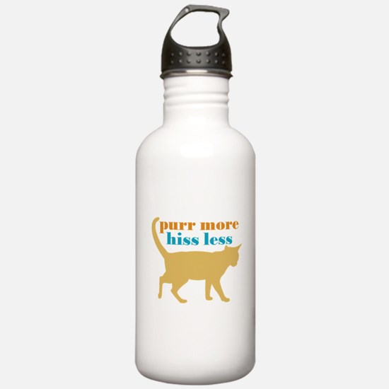 Purr More Hiss Less Water Bottle