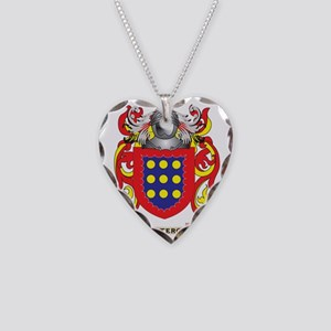 Otero Coat of Arms (Family Cr Necklace Heart Charm