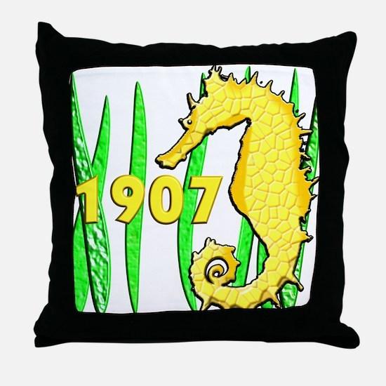 Seahorse, 1907 Throw Pillow