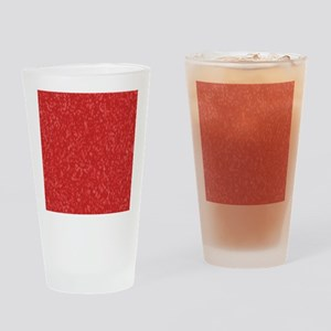 Hot Pepper Red Drinking Glass