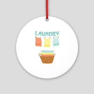 Laundry Ornament (Round)