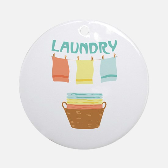 Laundry Ornament (Round)