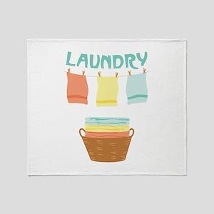 Laundry Throw Blanket