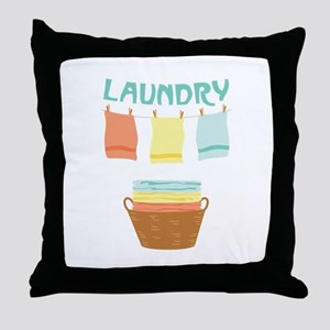 Laundry Throw Pillow
