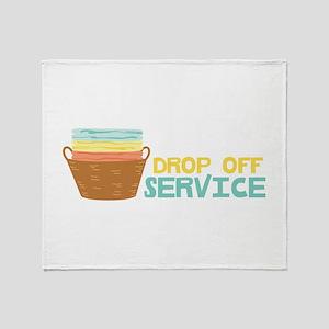 Drop Off Service Throw Blanket