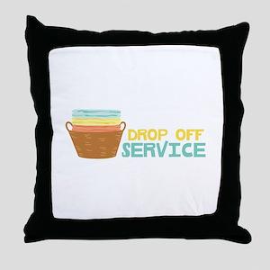 Drop Off Service Throw Pillow