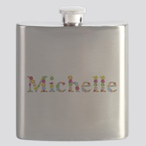 Michelle Bright Flowers Flask