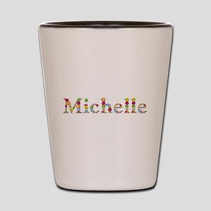 Michelle Bright Flowers Shot Glass