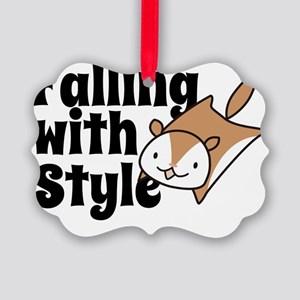 Falling with Style Squirrel Picture Ornament