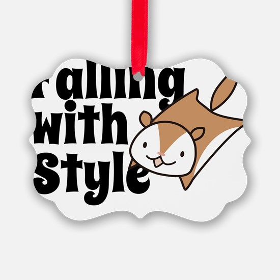 Falling with Style Squirrel Ornament