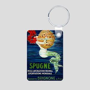 1920 Italian Mermaid & Spo Aluminum Photo Keychain