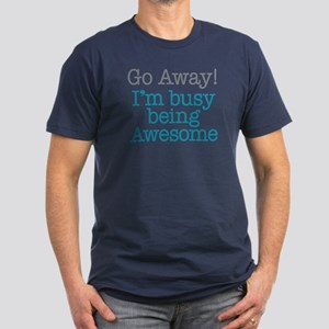 Busy Being Awesome Men's Fitted T-Shirt (dark)