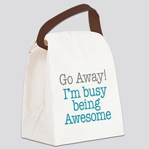 Busy Being Awesome Canvas Lunch Bag