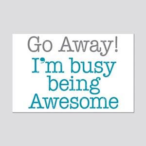 Busy Being Awesome Mini Poster Print