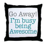Rude humor Cotton Pillows