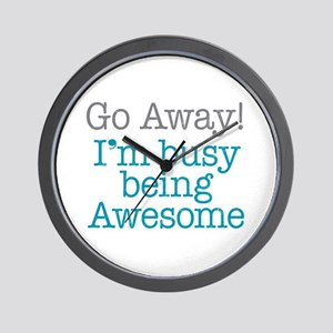 Busy Being Awesome Wall Clock