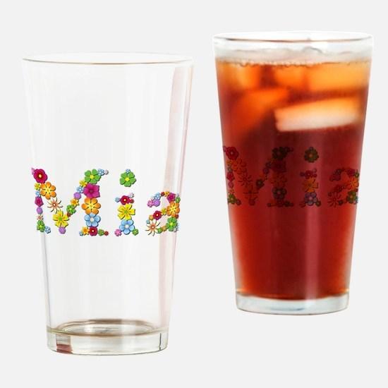 Mia Bright Flowers Drinking Glass