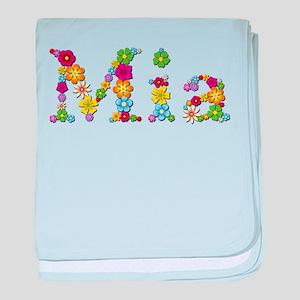 Mia Bright Flowers baby blanket
