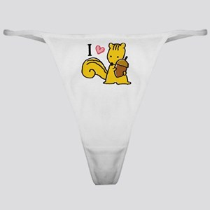 I Love Squirrels Classic Thong