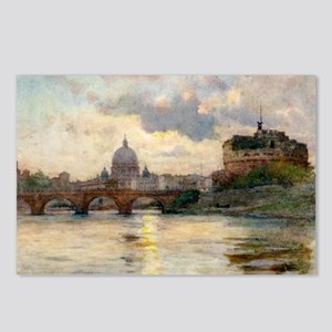 St Peter's Rome From The  Postcards (Package of 8)