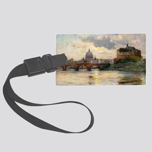 St Peter's Rome From The Tiber Large Luggage Tag