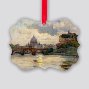 St Peter's Rome From The Tiber Picture Ornament
