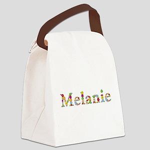 Melanie Bright Flowers Canvas Lunch Bag