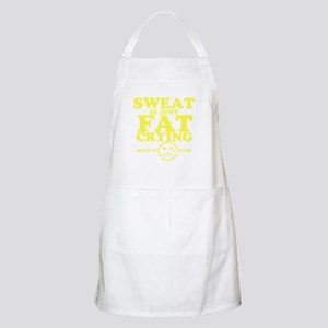 Sweat is just fat crying fitness work out Apron