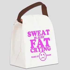 Sweat is just fat crying fitness  Canvas Lunch Bag