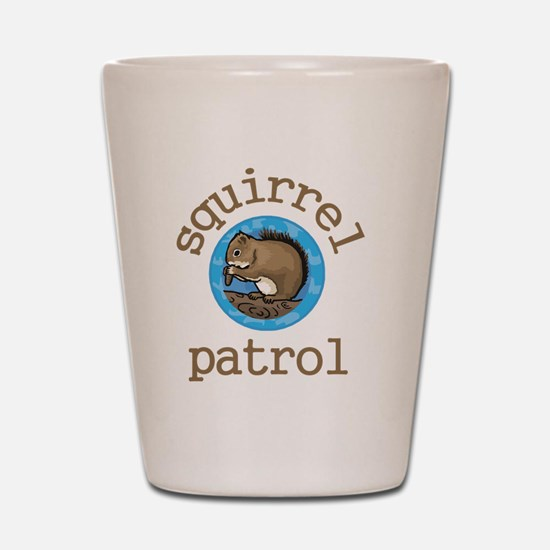 Squirrel Patrol Shot Glass