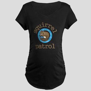 Squirrel Patrol Maternity Dark T-Shirt