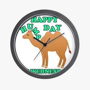Happy Hump Day is Wednesday camel funny Wall Clock