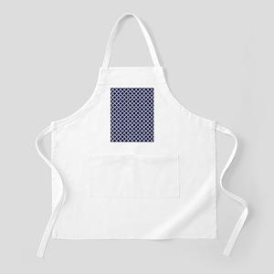 Navy Blue Quatrefoil Pattern Apron