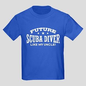 Future Scuba Diver Like My Uncle Kids Dark T-Shirt