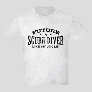 Future Scuba Diver Like My Uncle Kids Light T-Shir