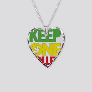 weed cannabis 420 t-shirt Necklace Heart Charm