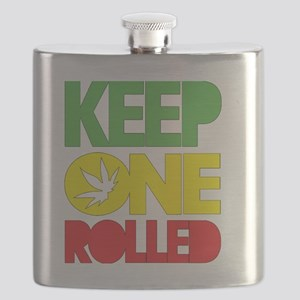 weed cannabis 420 t-shirt Flask