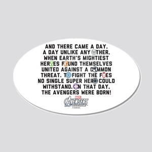 There Came a Day 20x12 Oval Wall Decal