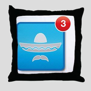 Three Amigos notification Throw Pillow