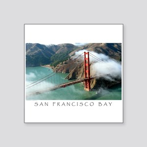 San Francisco Bay Fog Rectangle Sticker