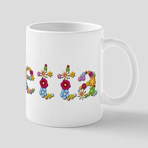 Loretta Bright Flowers Mugs