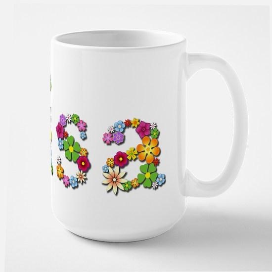 Lisa Bright Flowers Mugs