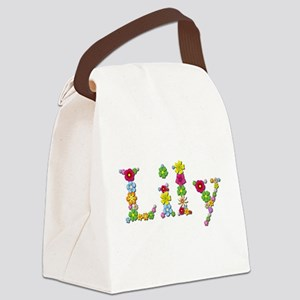 Lily Bright Flowers Canvas Lunch Bag