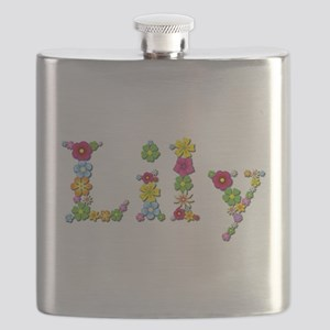Lily Bright Flowers Flask