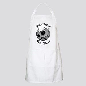 Surrender Yer Grill Black BBQ Apron