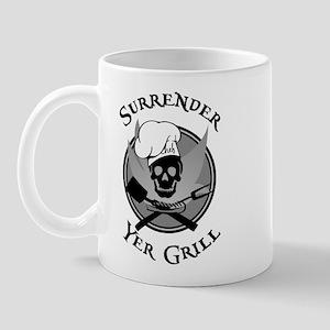 Surrender Yer Grill Black Mug