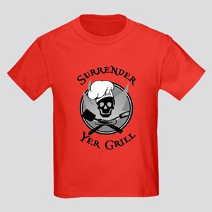 Surrender Yer Grill Black Kids Dark T-Shirt