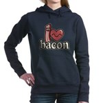 I Heart Bacon Hooded Sweatshirt